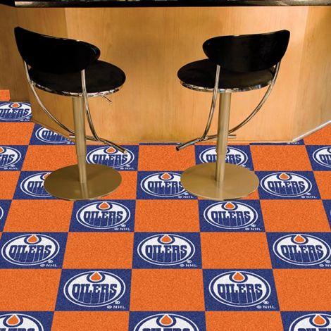 Edmonton Oilers NHL Team Carpet Tiles