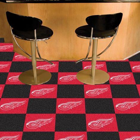 Detroit Red Wings NHL Team Carpet Tiles