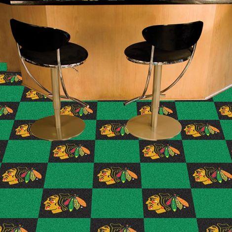 Chicago Blackhawks NHL Team Carpet Tiles