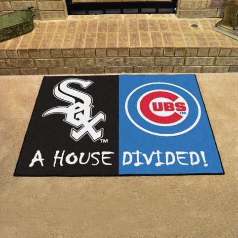 White Sox / Chicago Cubs MLB House Divided Mats