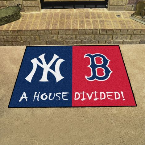 Yankees / Red Sox  MLB House Divided Mats
