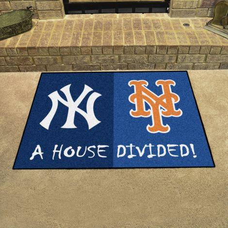 Yankees / Mets  MLB House Divided Mats