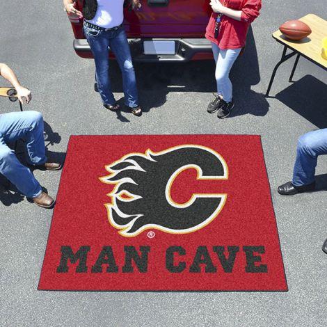 Calgary Flames NHL Man Cave Tailgater Mat