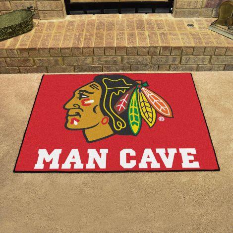 Chicago Blackhawks NHL Man Cave All-Star Mat