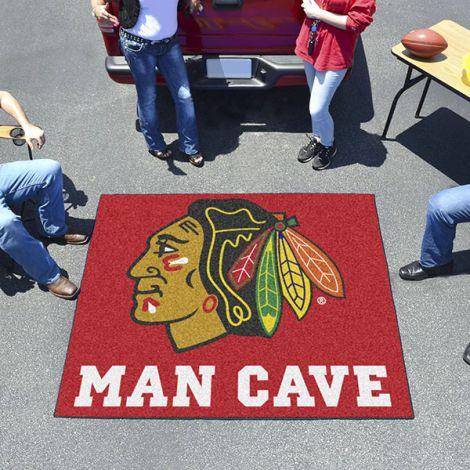 Chicago Blackhawks NHL Man Cave Tailgater Mat