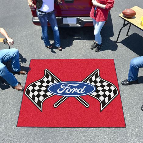 Ford Flags Red Ford Tailgater Mat