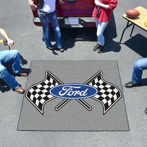 Ford Flags Grey Ford Tailgater Mat