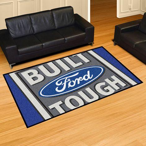 Built Ford Tough Blue Ford 5x8 Plush Rug