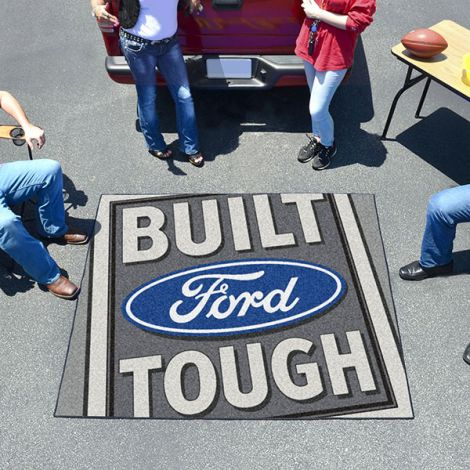 Built Ford Tough Grey Ford Tailgater Mat
