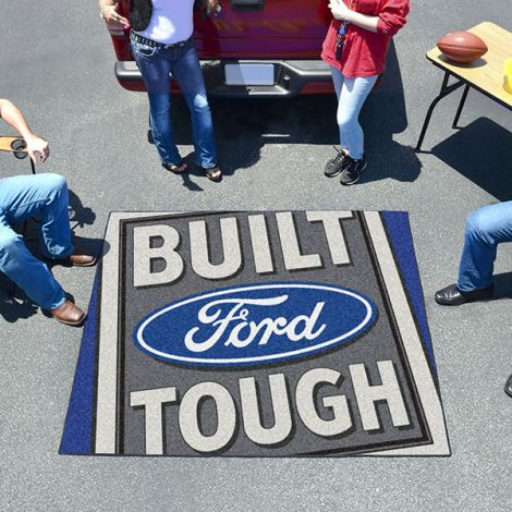 Built Ford Tough Blue Ford Tailgater Mat