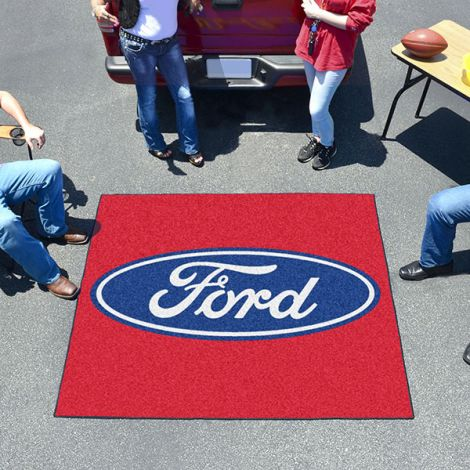 Ford Oval Red Ford Tailgater Mat