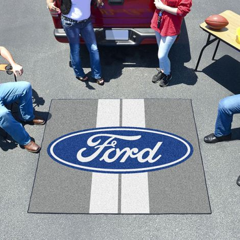 Ford Oval with Stripes Grey Ford Tailgater Mat