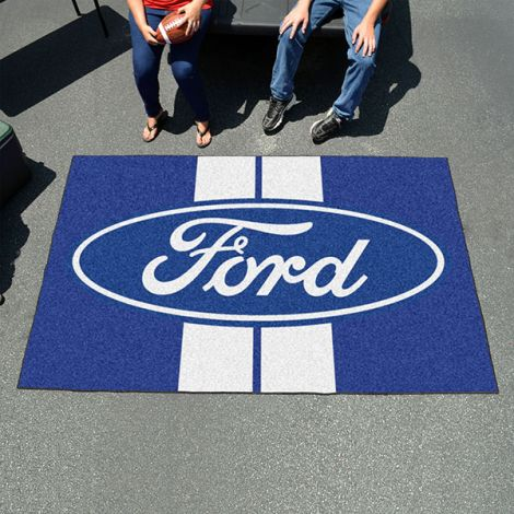 Ford Oval with Stripes Blue Ford Ulti-mat