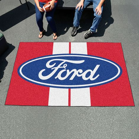 Ford Oval with Stripes Red Ford Ulti-mat