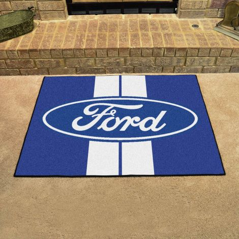 Ford Oval with Stripes Blue Ford All Star Mat