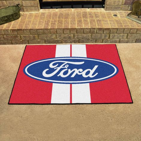 Ford Oval with Stripes Red Ford All Star Mat