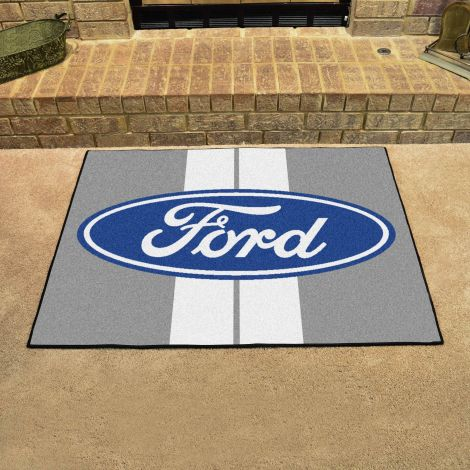 Ford Oval with Stripes Grey Ford All Star Mat