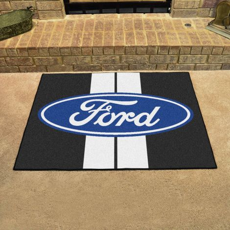 Ford Oval with Stripes Black Ford All Star Mat
