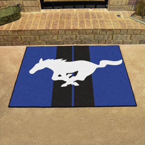 Mustang Horse Blue Ford All Star Mat