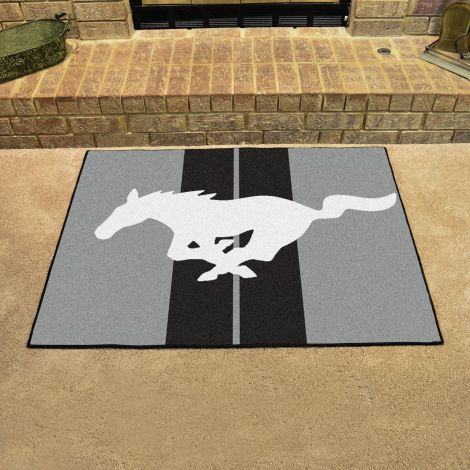 Mustang Horse Grey Ford All Star Mat