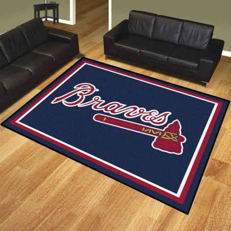 Atlanta Braves MLB 8x10 Plush Rugs