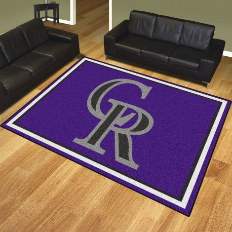 Colorado Rockies MLB 8x10 Plush Rugs