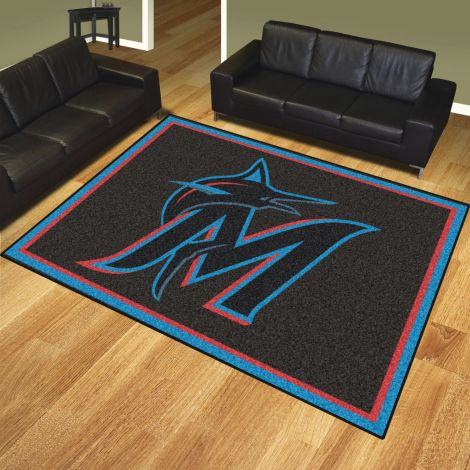 Miami Marlins MLB 8x10 Plush Rugs