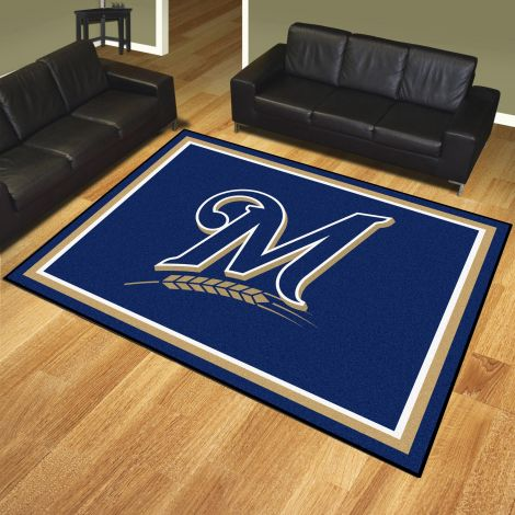 Milwaukee Brewers MLB 8x10 Plush Rugs