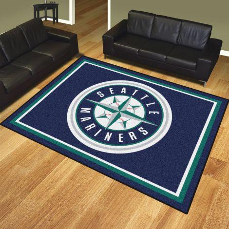 Seattle Mariners MLB 8x10 Plush Rugs