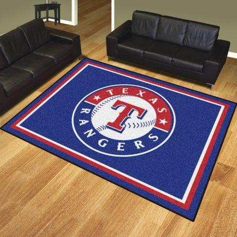 Texas Rangers MLB 8x10 Plush Rugs