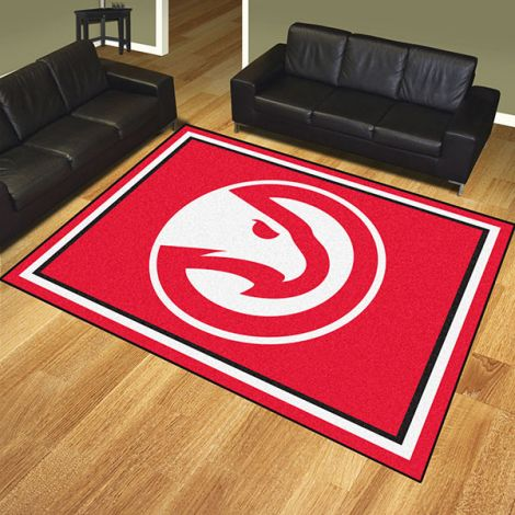 Atlanta Hawks NBA 8x10 Plush Rug