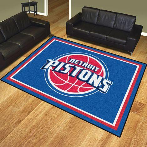 Detroit Pistons NBA 8x10 Plush Rug