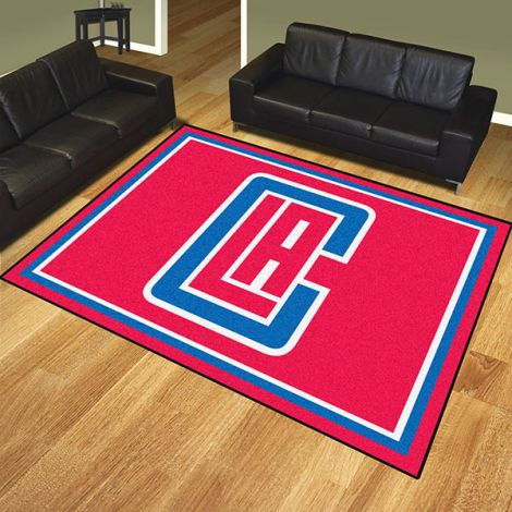 Los Angeles Clippers NBA 8x10 Plush Rug