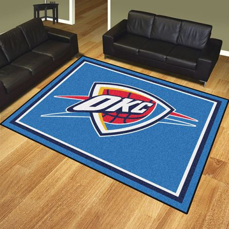 Oklahoma City Thunder NBA 8x10 Plush Rug