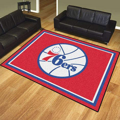 Philadelphia 76ers NBA 8x10 Plush Rug