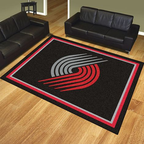 Portland Trail Blazers NBA 8x10 Plush Rug