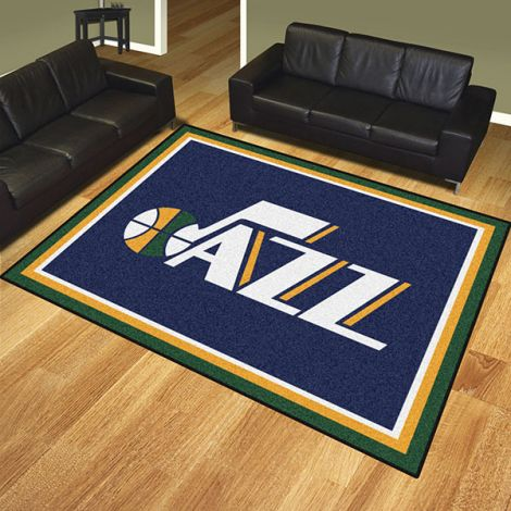 Utah Jazz NBA 8x10 Plush Rug