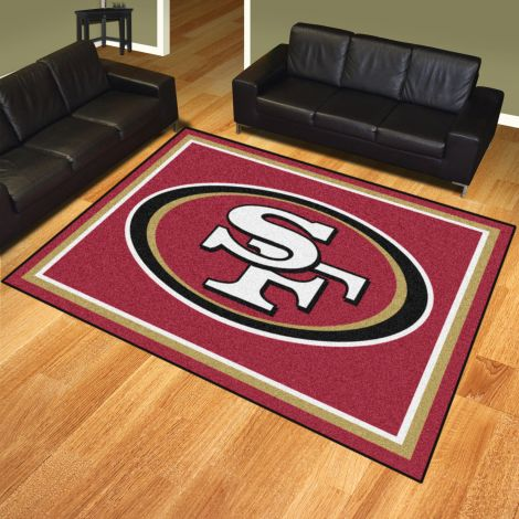 San Francisco 49ers MLB 8x10 Plush Rugs