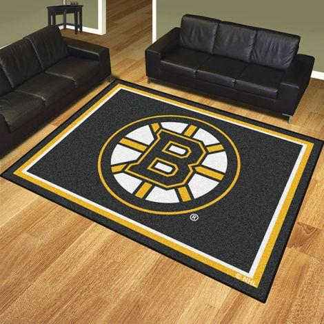 Boston Bruins NHL 8x10 Plush Rug