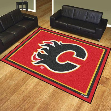Calgary Flames NHL 8x10 Plush Rug