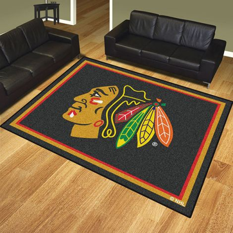 Chicago Blackhawks NHL 8x10 Plush Rug
