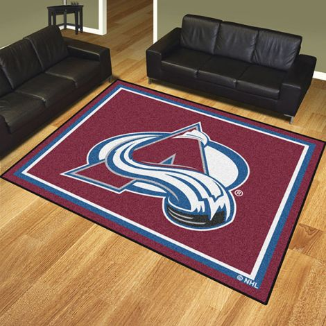 Colorado Avalanche NHL 8x10 Plush Rug