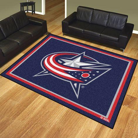 Columbus Blue Jackets NHL 8x10 Plush Rug