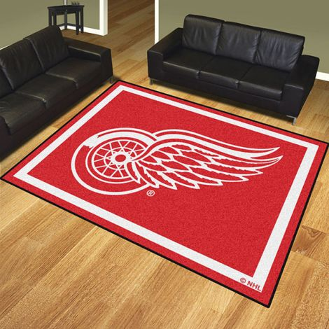 Detroit Red Wings NHL 8x10 Plush Rug