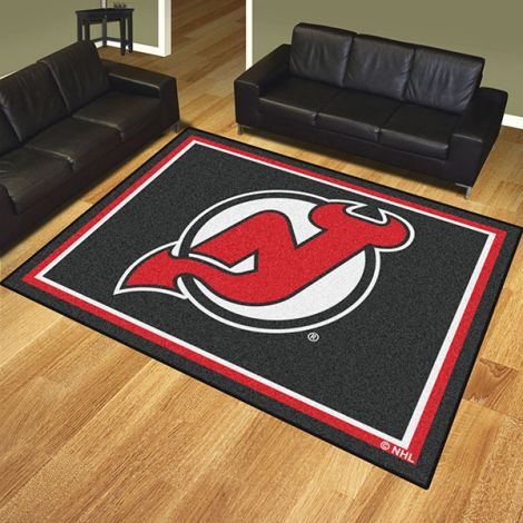 New Jersey Devils NHL 8x10 Plush Rug