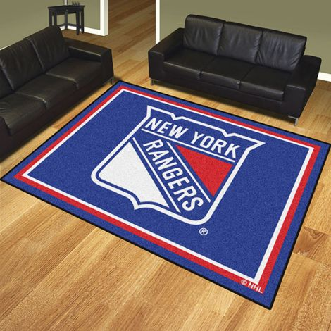 New York Rangers NHL 8x10 Plush Rug
