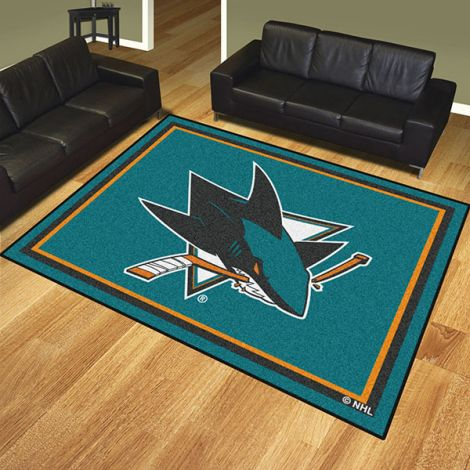 San Jose Sharks NHL 8x10 Plush Rug
