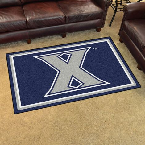 Xavier University Collegiate 4x6 Plush Rug