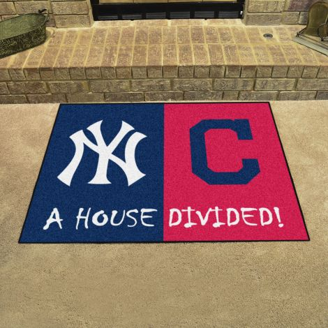 Yankees / Indians  MLB House Divided Mats