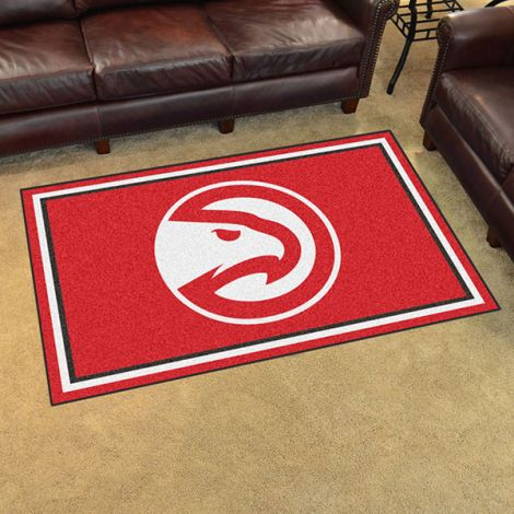 Atlanta Hawks NBA 4x6 Plush Rug